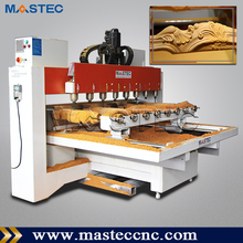 Multi-spindle 3D Wood Carving Engraving Machine / 4 Axis CNC Router