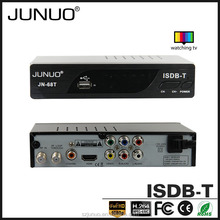 JUNUO china factory OEM producefull HD 1080P USB2.0 free to air brasil isdb-t fta decodificadores chile