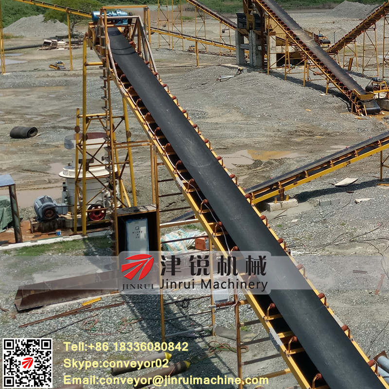 Large capacity DT2 type stone belt conveyor for sale