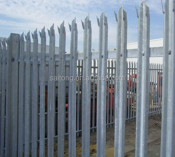 Excellent quality top sell boundary wall fence palisade fencing