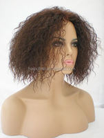 Unprocessed remy human hair wig 100% Virgin brazilian hair full lace wig