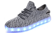 2017 hot sell light up shoes for women man 7 color led shoes for running