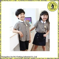 School uniform for boys and girls checked school uniform