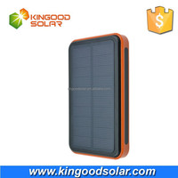 New item dual USB high capacity rainproof portable10000mah solar charger for mobile phone and tablet PC