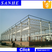 prefabricated warehouse building / steel factory building