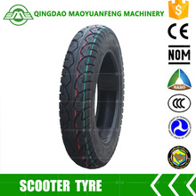 china rubber tire factory wholesale two wheeler scooter motorcycle tyre 3.00-10 with inner tube or tubless