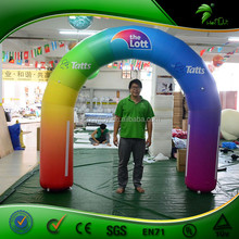Outdoor Custom New Inflatable Rainbow Arch / PVC Advertising Inflatable Colorful Arch For Activities