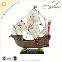 Hotsale polyresin fishing boat model