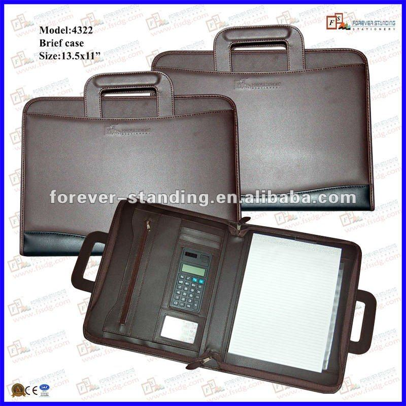 Business Briefcase with Calculator and A4 Paper (4322)