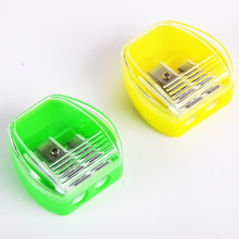 custom with cover bin double hole plastic cheap jumbo pencil sharpener