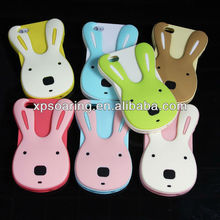 3D animal silicone case for iphone 5, rabbit cover for iphone 5