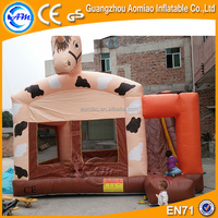 Funny inflatable horse combo, 0.55mm pvc jumping inflatable combo castle