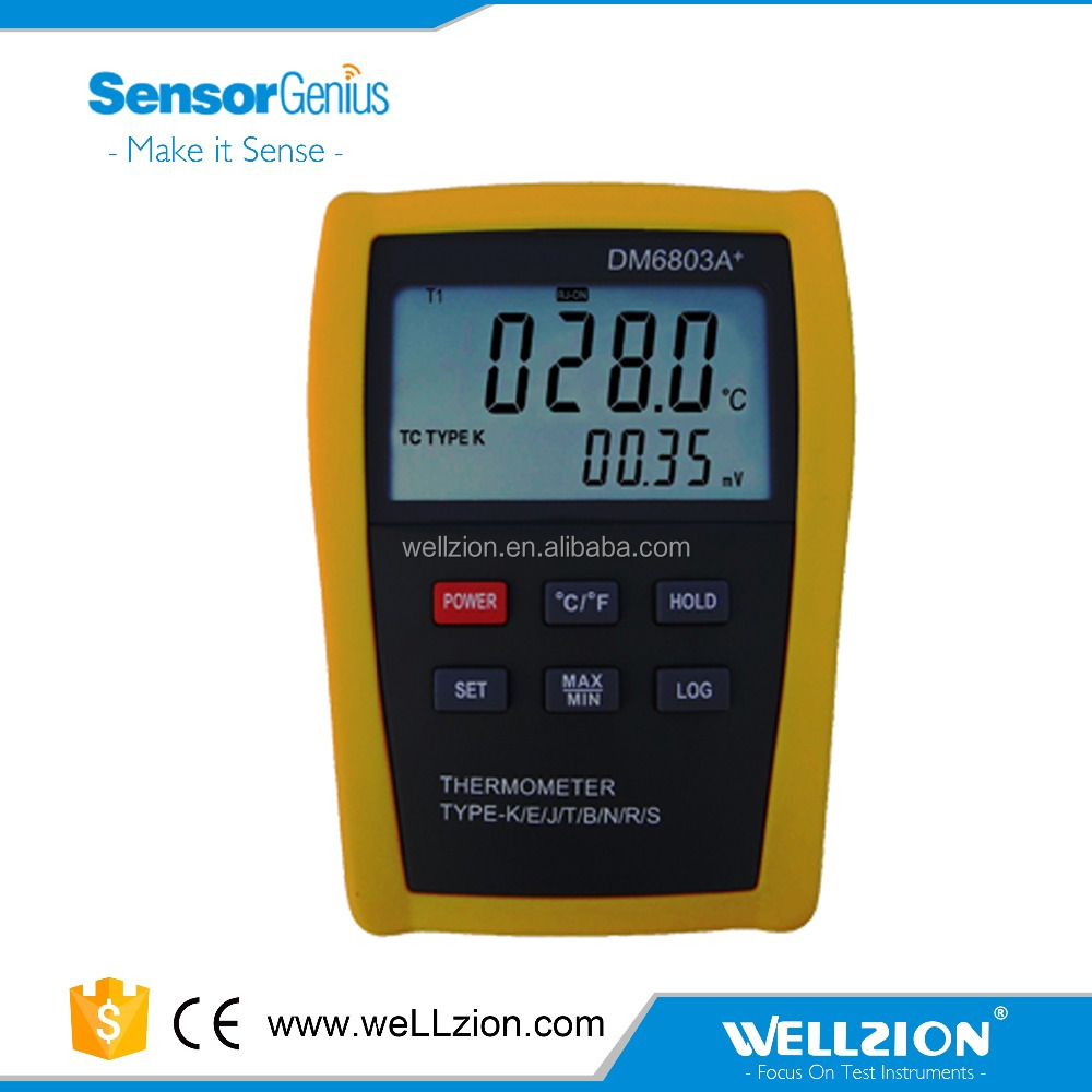 DM6803A+,Support j type thermocouple -200~1200 Celsius thermometer