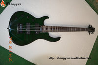 Shengque Left Handed Green Color 5 String Electric Bass Guitar