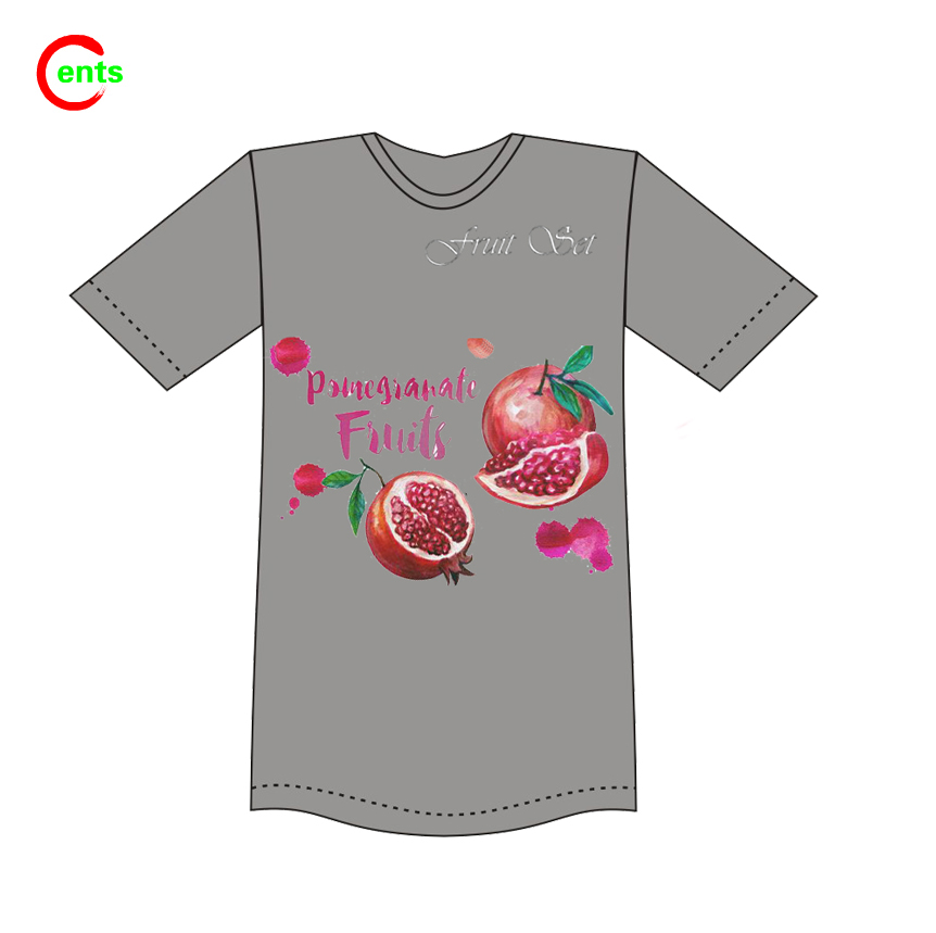 Hot Soft Cotton Fabric Digital Printing Customized O Neck T Shirt For Youth