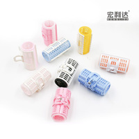 Eco-friendly colorful magic popular plastic easy hair rollers DIY girl women use curl roller