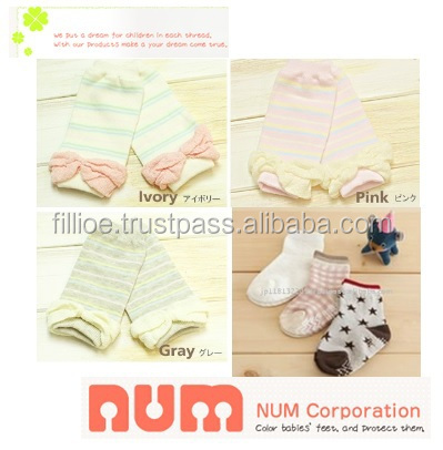 High quality and Easy to use hand knit baby sweater Japanese design NUM cute young girl tube socks with Various types of baby it
