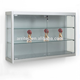 Wall mounted silver glass display cabinet