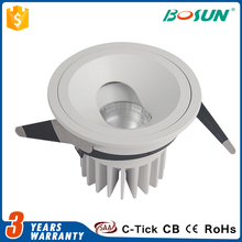 china factory price recessed motion sensor dimmable 6w 9w cob led light downlight