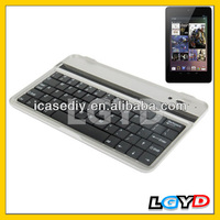 Hot selling Mini Bluetooth 3.0 Wireless Ultra-slim Aluminum Keyboard for Google Nexus 7