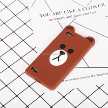 Factory price Funny little bear animal shape 3D cartoon silicon phone case for Xiaomi mi6 mobile phone