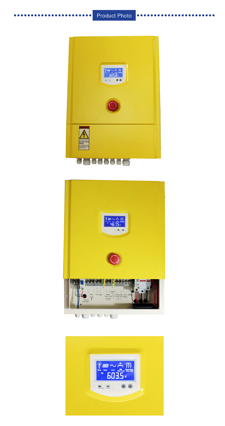 On grid wind solar hybrid controller 1KW