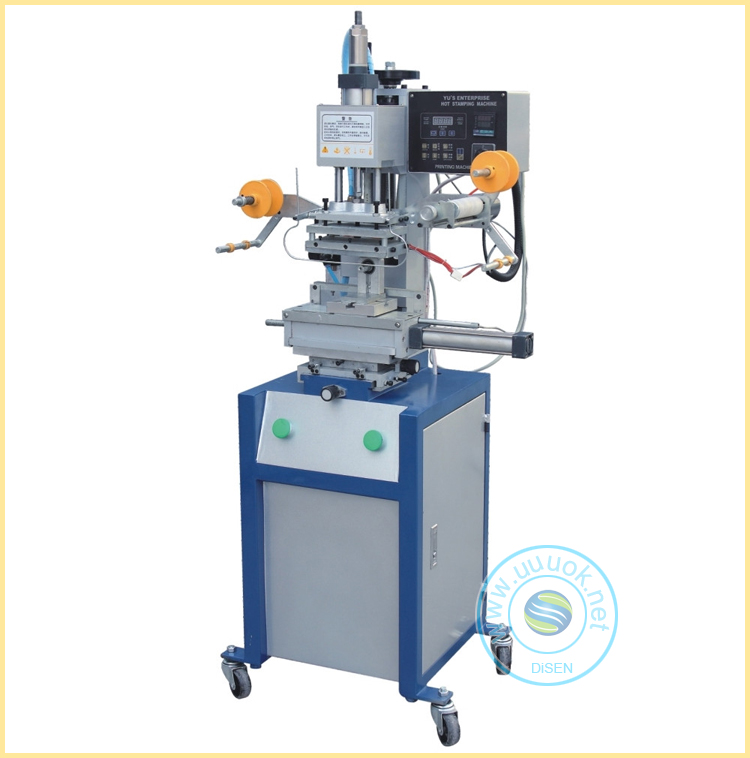 Hand operated feed flat round press pencil pneumatic hot foil stamping machine