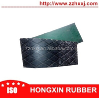 Conveyor diamond rubber cover for pulley