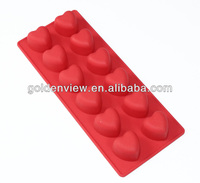 Heart shaped silicone chocolate candy mold ice cube tray for Valentine's Day