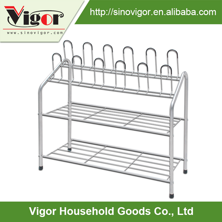 China manufacturer factory direct sale adjustable 5 tiers iron shoes rack wholesale simple designs