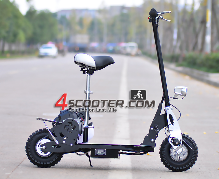 Foldable 2 wheel 49cc gas scooter with disk brake