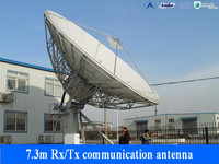 7.3m high quality outdoor satellite antenna from China