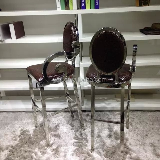 stainless steel lounge modern bar chair price model