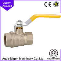 China made low price female threaded end forged brass angel ball valve