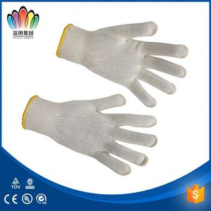 FT SAFETTY Most Comfortable Working Safety Gloves etiquette white 100% cotton working glove