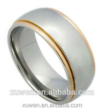 confortable fit matt finish 316l stainless steel 18kg ring jewelry