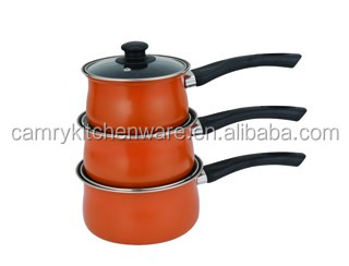 Belly shape non-stick cookware in sauce pan set