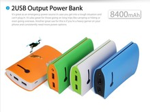 8400mAh Ultra-Compact Portable External Battery Backup Charger Power Bank Charger for iphone5 5s 5c 4s 4 Samsung galaxy S3 S4