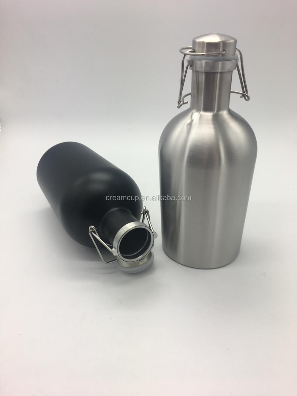 64OZ stainless steel double wall vacuum Insulated Beer Growler