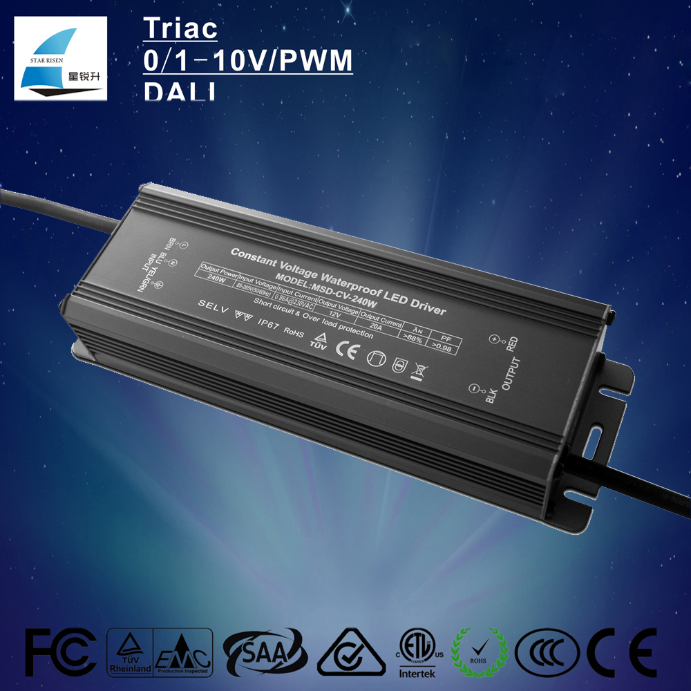 High PFC 24v 240w led power supply 36v non-dimmable multi channel output led driver with CE ETL SAA ROHS Listed