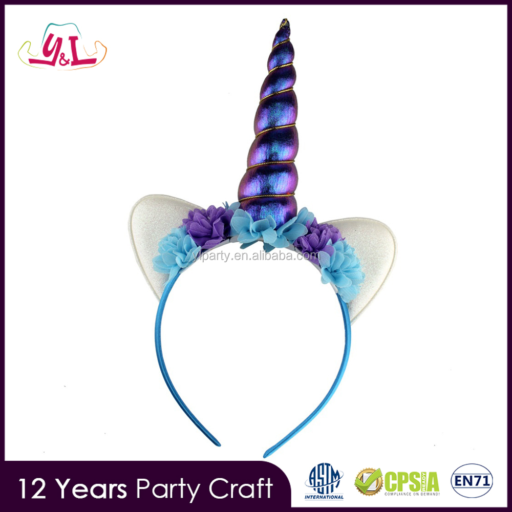 New Novelty 2017 Popular Unicorn Horn Headband for Unicorn