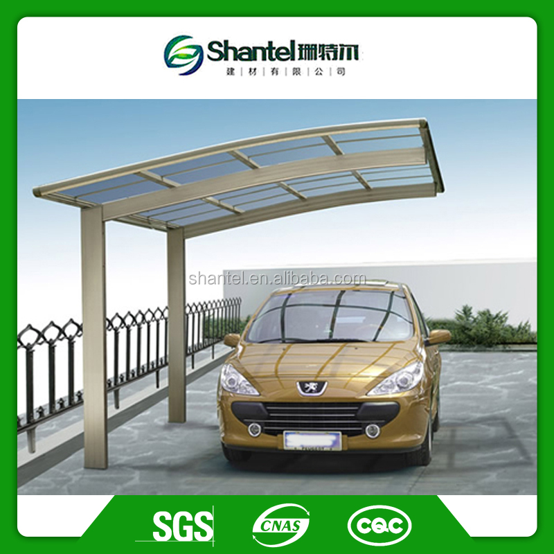 Strong Aluminum Outdoor Canopy Carport With Solid Polycarbonate Sheet