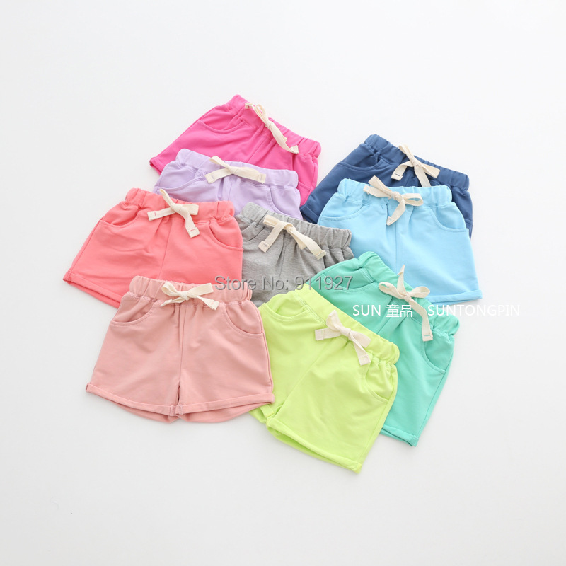 summer 2015 new arrial cotton shorts for children Hot pants candy color for age 2-6Y vestidos bermuda infantil boys girls short