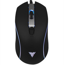 Ergonomic design 7000 DPI 4 Buttons gaming mouse 7 Color LED Optical USB Wired Gaming Mouse