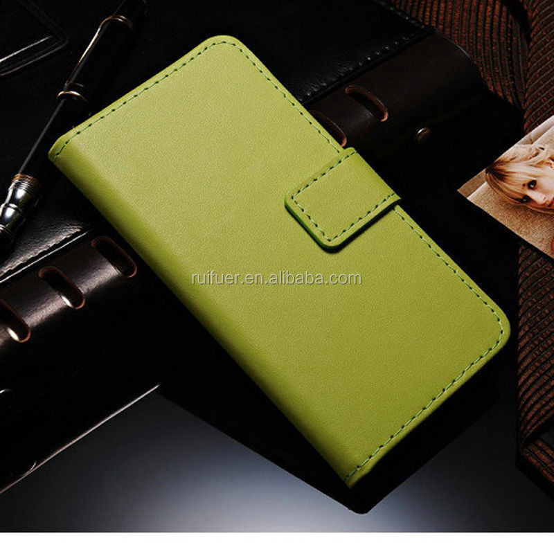 Manufactur Wholesale Customize Welcome With Card Slot PU Genuine Leather Flip Wallet Case for Samsung Galaxy S7 Edge Plus