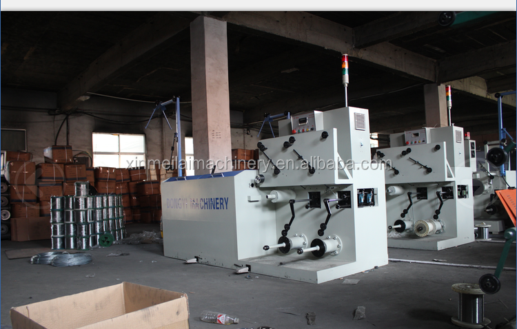 Copper fine wire drawing machine with annealing In metal straightening machinery