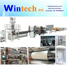ABS/PMMA/PC/PS/HIPS PP PE Plastic Sheet Extrusion Line sheet/panel making machine, sheet production line