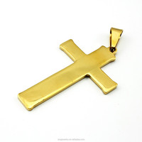 SP0729016 imitation jewelry latest style cross necklace stainless steel pendant imported from china