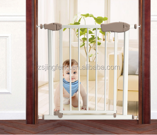 One Hand Operable Auto Close Baby Safety Gate Adjustable Child Safety Fencing And Gates For Door And Hallway