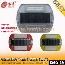 SF008C Solar reflector road studs with PC material and 4pcs LED LIGHT